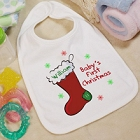 Baby's 1st Christmas Personalized Cotton Baby Bib