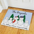 Snow Family Personalized Doormat