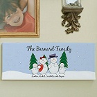 Snowman Family Personalized Canvas Print
