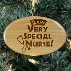 Personalized Nurse Wooden Oval Christmas Tree Ornament