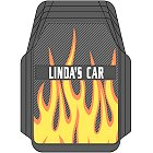Flames Personalized Trimmable Floor Mats