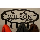 Personalized Steel Vine Coat Hook
