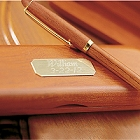 Engraved Genuine Rosewood Pen and Case Set