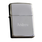 Zippo Engraved Chrome Lighter