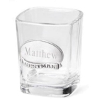 Pewter Medallion Personalized Best Man Shot Glass
