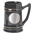 Engraved Pewter Medallion Best Man Ceramic Mugs