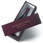 Solid Wood Personalized Wine Gift Box