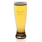 Engraved 20 oz. Mancave Grand Pilsner Glasses