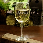 Connoisseur Engraved White Wine Glass