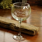 Connoisseur Engraved Red Wine Glass