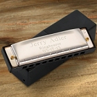 Stainless Steel Engraved Harmonica