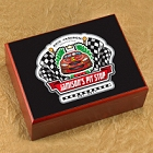Personalized Pit Stop Racing Cigar Humidors