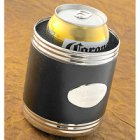 Black Leather Engraved Can Koozie
