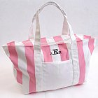 Candy Striped Personalized Tote Bags