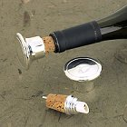 Engraved Silver Plated Wine Bottle Stopper/Pourer