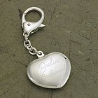 Engraved Key to My Heart Silver Plated Keychain