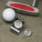 Personalized State Quarter Ball Marker/Belt Clip