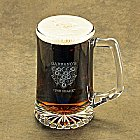 Personalized Billiards Icon Beer Mugs