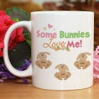 Some Bunnies Love Me Personalized Easter Coffee Mug