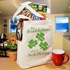 Irish Blessings Personalized Canvas Tote Bag