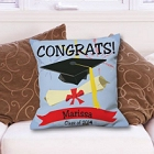 Class of 2015 Personalized Graduation Congrats Throw Pillow