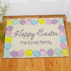 Easter Eggs Happy Easter Personalized Doormat