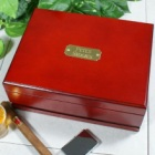 Engraved Cherry Wood Cigar Humidor