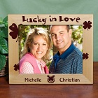 Lucky in Love 10x8 Irish Personalized Wood Picture Frame