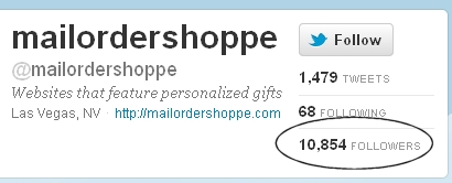 The Mail Order Shoppe Reaches 10,000 Followers on Twitter