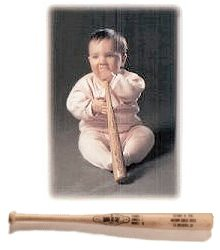 Personalized Baby's Mini Baseball Bat