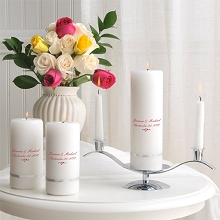 Deluxe Personalized Wedding Unity Candle Set