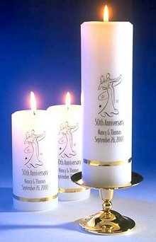 Deluxe Personalized Anniversary Candle Sets
