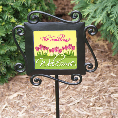 Spring Tulips Personalized Garden Stakes