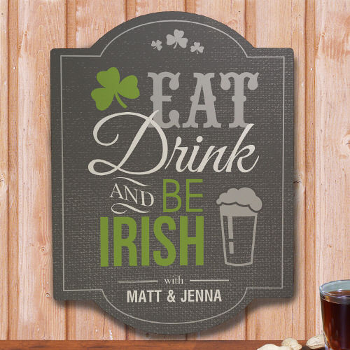 Personalized Irish Welcome Wood Wall Signs