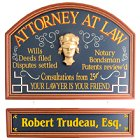 Attorney at Law Personalized Wood Sign