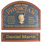 Personalized Medical Old Time Wood Signs