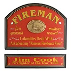 Firefighter Personalized Wood Sign