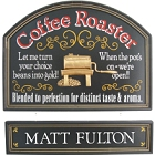 Coffee Roaster Personalized Wood Sign