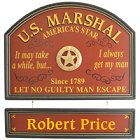 U.S. Marshall Personalized Wood Sign