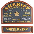Sheriff Personalized Wood Sign