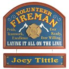Volunteer Fireman Personalized Wood Sign