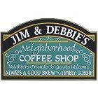 Personalized Neighborhood Coffee Shop Wood Sign