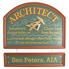 Architect Old Time Wooden Sign