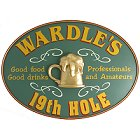 Personalized 19th Hole Oval Golf Sign