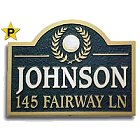 Sandblasted Wood Golf Address Sign