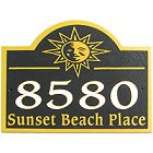 Sunshine Sandblasted Wood Address Plaque