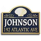 Sandblasted Sea Shell House Address Plaque
