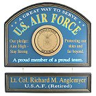 US Air Force Personalized Wood Signs