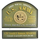 US Army Personalized Wood Signs