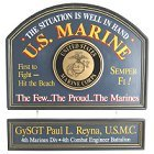 US Marines Personalized Wood Sign